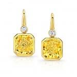 Yellow on Yellow Earrings-2